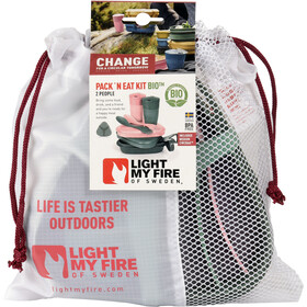 Light My Fire Pack´n Eat Kit BIO pour 2 personnes, sandygreen/dustypink